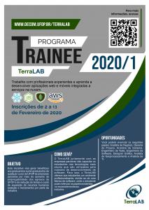 Poster de divulgação do processo seletivo, contém as mesmas informações descritas no texto